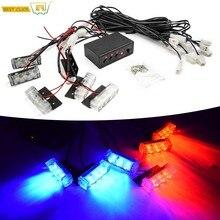 12V LED feu de signalisation avertissement d'urgence clignotant lumière Police véhicule voiture stroboscope lumières auto Grille avant flash lampe barre