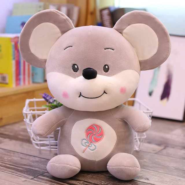 35cm-60cm Hot New Cute Mouse Plush Toy Stuffed Soft Animal Rat Doll Pillow Kawaii Birthday Gift for Children Lovely Kid Baby Toy
