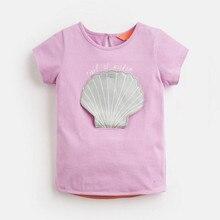 T-Shirt Girl Little-Maven Tops Short-Sleeve Cotton Children Summer Pearl 51617 Tee New