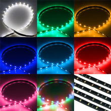 Tira de luces LED El para decoración de coche, Cable de 30cm, resistente al agua, con Motor de luz brillante, cuerda de tubo, cinta de circulación diurna, para fiesta, 1/2 Uds.