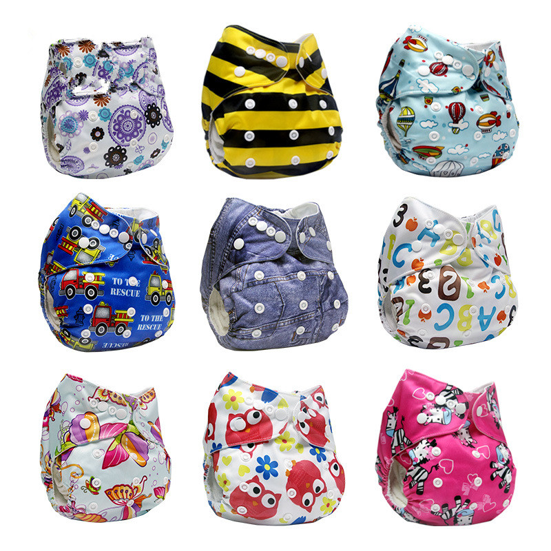 Washable Nappy Baby Organic Cloth Diapers Prevent Side Leakage Diaper Pants Waterproof 0-2years