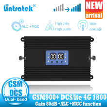 NEW lintratek gsm 900MHZ 4G Signal amplifier repeater 2g DCS LTE 1800 GSM dual band signal booster high gain + power
