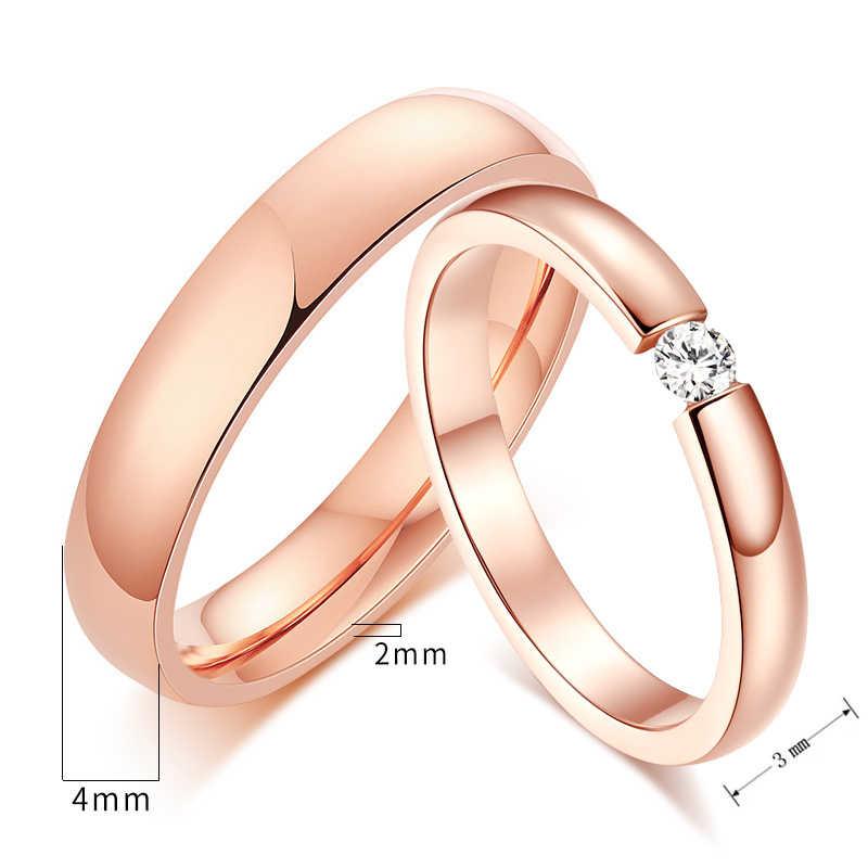 Wanita Pria Gratis Personalisasi Ukiran Nama Ulang Tahun Tanggal Pernikahan Band Cincin untuk Dia dan Janji Cinta Kustom Perhiasan