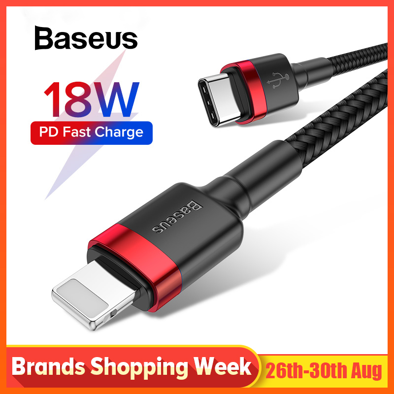 Baseus USB Type C For iPhone Cable 18W PD Fast Charging Type C Cable for iPhone 8 8 Plus