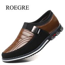 High Quality Leather Shoes Men Luxury Brand Casual Shoes Fashion Mens Loafers Moccasins Flats Comfortable Men's Driving Shoes 48