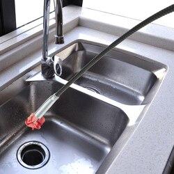 157cm szczotka do czyszczenia kanału odpływowego śmieci kanalizacja pogłębiarka uchwyt czyszczenie włosów narzędzie zginalny ręczny gięcie ciśnienie kanalizacja klip urządzenie w Szczotki do czyszczenia od Dom i ogród na