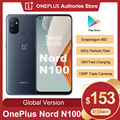 Глобальный Oneplus Nord N100 4GB 64GB Смартфон Snapdragon 460 5000 мАч Android 10 13MP тройной камеры 20:9 Дисплей мобильный телефон