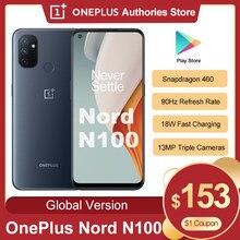 Globalny Oneplus Nord N100 4GB 64GB Smartphone Snapdragon 460 5000mAh Android 10 13MP potrójne kamery 20:9 wyświetlacz telefon komórkowy