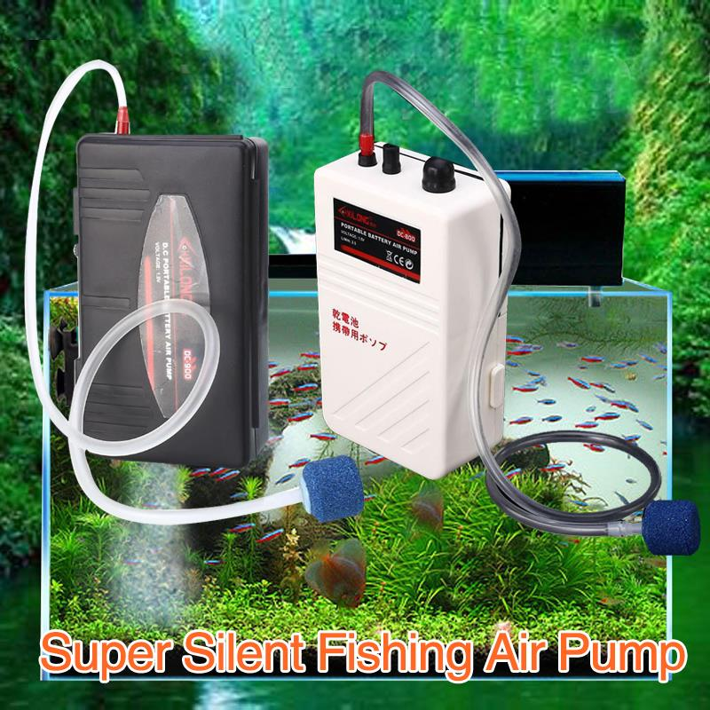 Fishing Air Pump DC800 Quiet Aquarium Aerator Live Fresh For Oxygenated Fish Tank Portable Bait