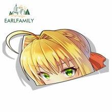 EARLFAMILY 13cm x 7.7cm per Nero Claudius Fate Grand Order Peek Anime Big Head vinile Cartoon Car Sticker JDM Window Trunk Decal