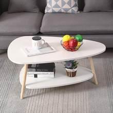 Table basse moderne minimaliste pour salon, hôtel, appartement, loisirs, balcon, table d'angle, HWC