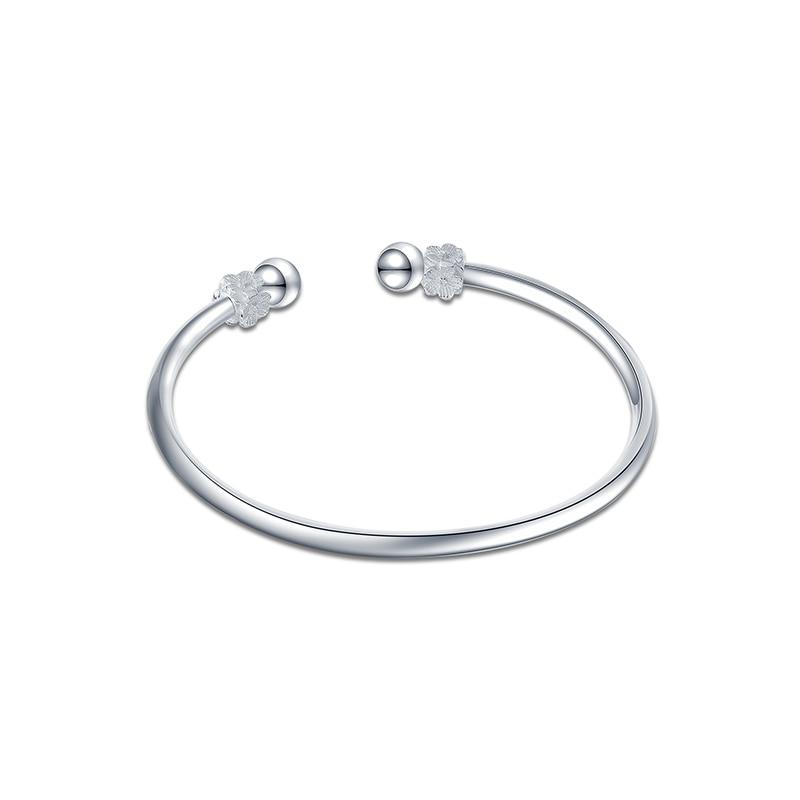 SA SILVERAGE Female Sterling Silver Jewelry Personality Fashion Simple Fashion Casual/Sporty Style Sakura S925 11.5g Bracelet