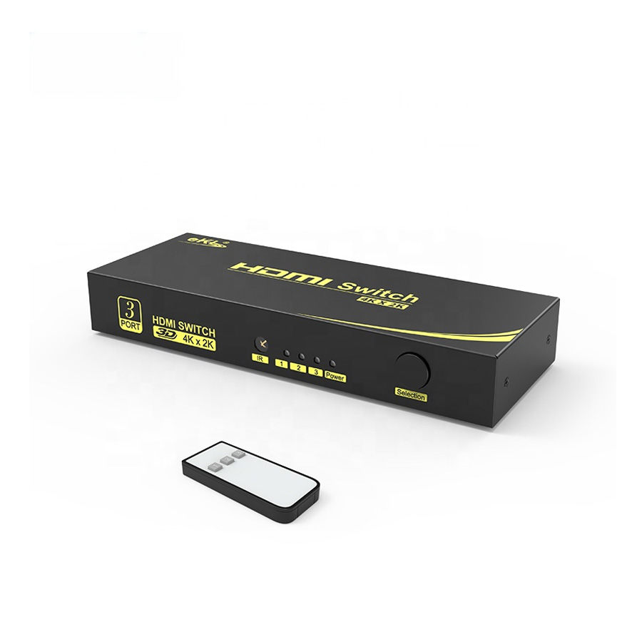 HDMI Switcher 3 In 1 out 4k 60Hz 3D HDMI 2.0 Switch  3x1 ,Compatibility With Windows Series/Mac/Linux And Other System