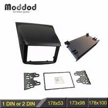 Đơn/Đôi DIN Fascia Cho Mitsubishi Pajero Sport Triton L200 Đài Phát Thanh DVD Stereo Bảng Dash Gắn Lắp Đặt Viền Bộ