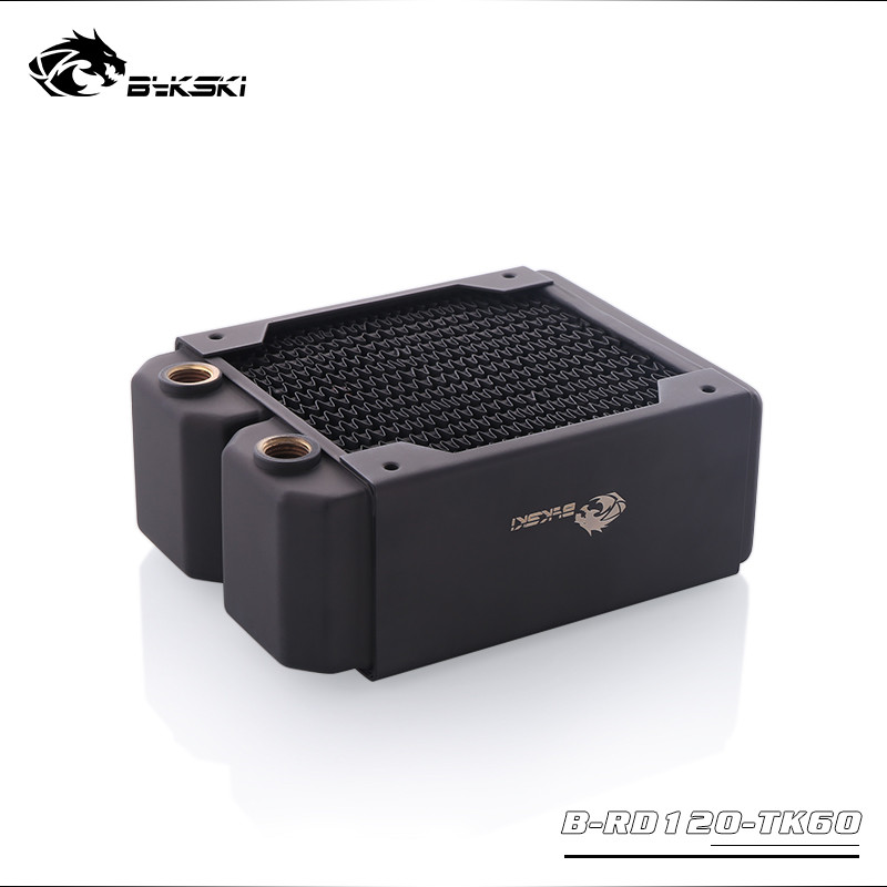Image 2 - Bykski Water Cooling Copper Heatsink Case Cold Row Radiator 60mm  Thickness For 120*120mm Fans B RD120/240/360 TK60Fans