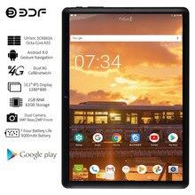 Bdf 2021 mais novo 10 Polegada tablet pc sc9863a android 9.0 octa núcleo 2gb/32gb phablet google play 4g placas de rede sim ips comprimidos
