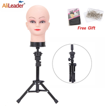 Alileader High Quality Tripod Wig Stand 60Cm Black Wig Stand Tripod For Canvas Block Mannequin Head Adjustable Wig Head Stand