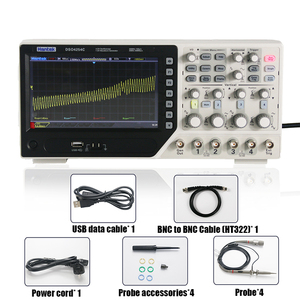 Image 5 - Hantek Digital Oscilloscope DSO4254C 4 Channels 250Mhz Bandwidth LCD PC Portable USB Oscilloscopes 1GS/s Sample Rate