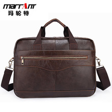 Factory Direct Sale Leather Men's Bag Leisure Business Brief