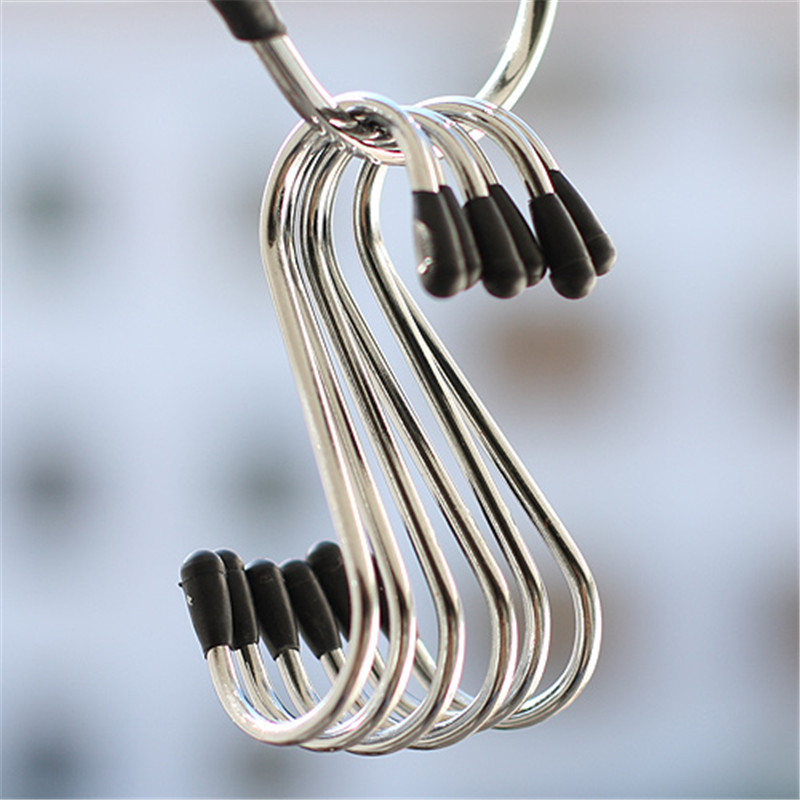 Stianless Steel S Hooks Fashion Hanger For Shoes Clothing 4pcs/Set