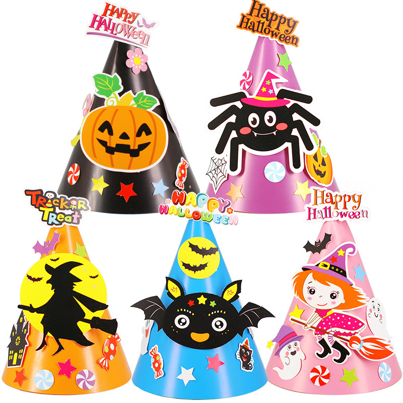 Halloween Costume Crafts Kids Hat Kindergarten Lots Arts Crafts Diy Toys Puzzle Crafts Kids For Children's Toys Girl/boy Gife 19