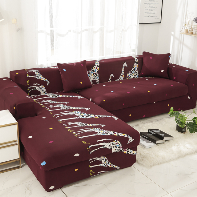 Polyester Set Couch Cover Elastic Sofa