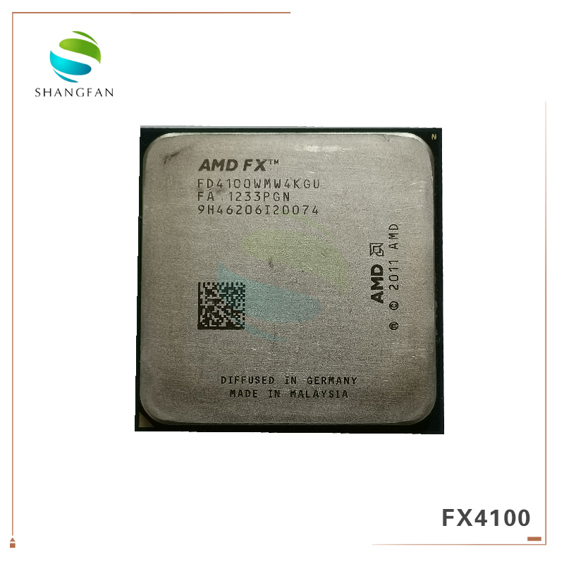AMD FX4100  FX 4100 3.2GHz Quad-Core CPU Processor FD4100WMW4KGU 95W Socket AM3+