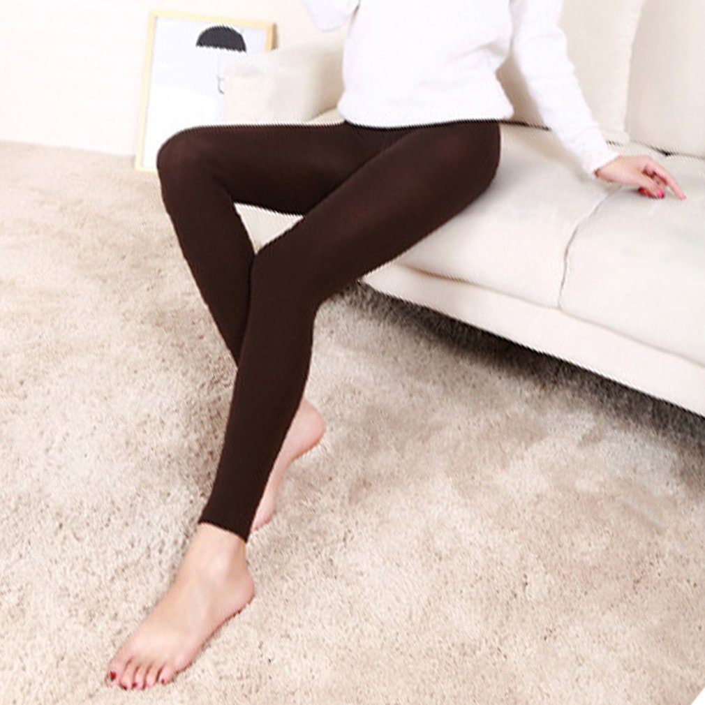 Women winter warm   leggings   skinny stretch fleece pants Women Casual Faux Velvet ankle-length   Legging   Knitted Thick Slim   Leggings