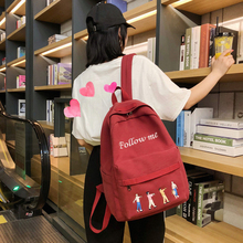 Casual Lettes Embroidery Women Backpacks Large Capacity Ladies Bookbags Women Travel Backpack For Girls Caroon Print School Bag блуза caroon