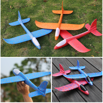 48 CM Hand Throw Airplane EPP Foam Launch fly Glider Planes Model Aircraft Outdoor Fun Toys for Children Party Game 3