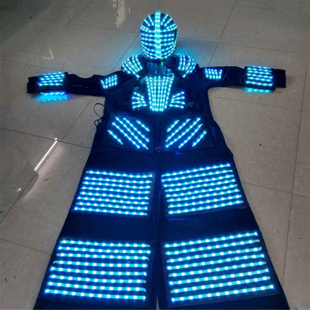 Stelten Walker RGB LED Licht LED Danser ~ Kostuum LED Robot Pak Voor Party Prestaties Elektronische Muziek Festival ~ DJ tonen - 3