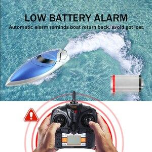 Image 3 - Barco RC 30 km/h lancha rápida de alta velocidad 4 canales 2,4 GHz Radio Control H106 barco remo juguetes modelo para niños y adultos