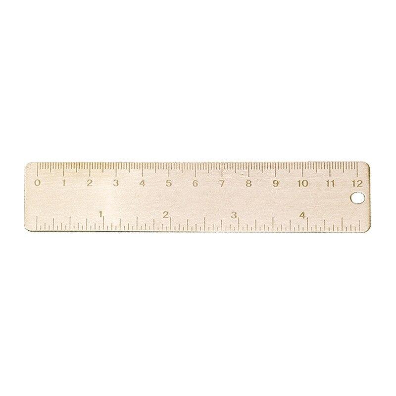 Portable Brass Scale Ruler Small Mini 6cm Ruler Measuring Tool