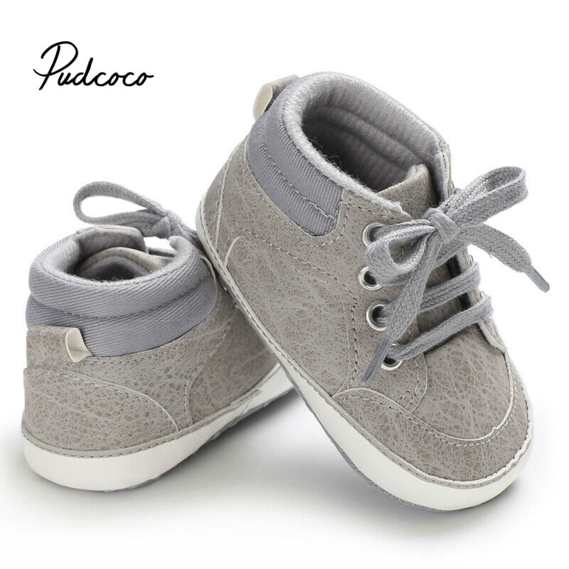 2020 Newborn Shoes Infant Baby Solid Girls Boys Soft Prewalker Casual Flats Canvas Sneakers Shoes Fashion Causal First Walkers