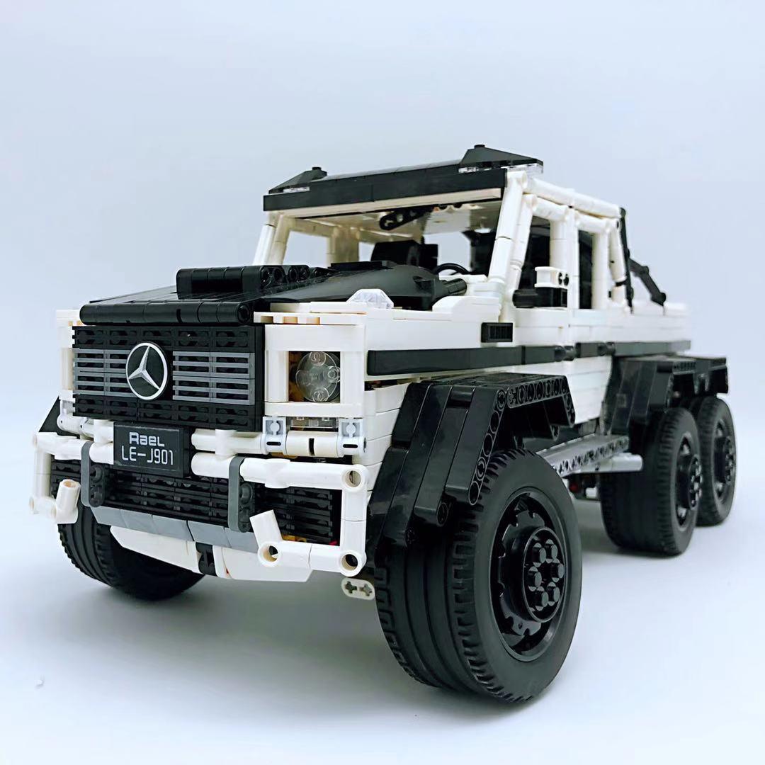 Technic Moc Series 6x6 Off Road Vehicle Mercede G63 Amg Building Blocks Bricks Ebay