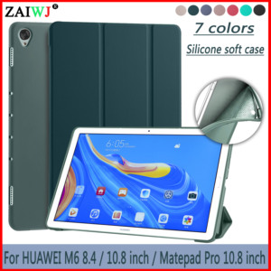 """Tablet PU Leather Cover For Huawei Mediapad M6 8.4 10.8 inch 2019 Case SCM-AL09 / w09 For MatePad Pro 10.8 """" Silicone soft shell(China)"""