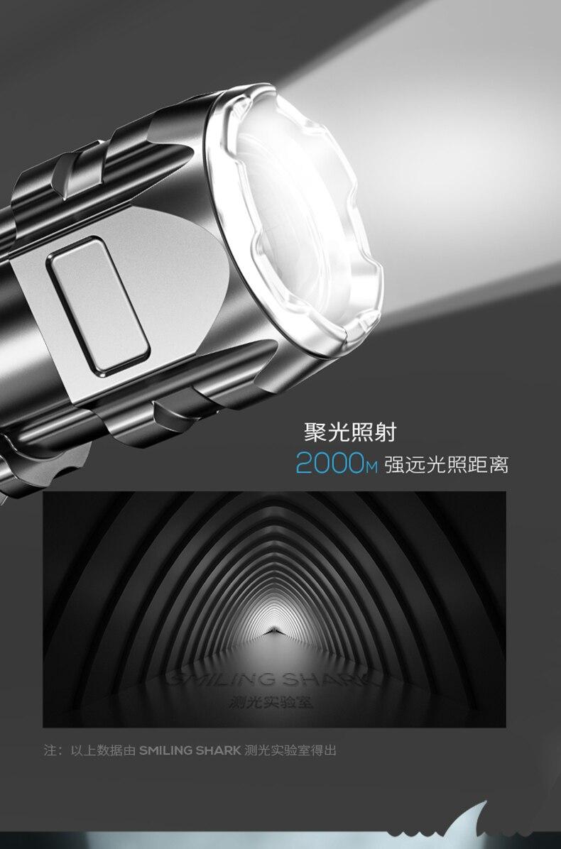 segurança à prova d'água, poderosa, recarregável, led, iluminação externa