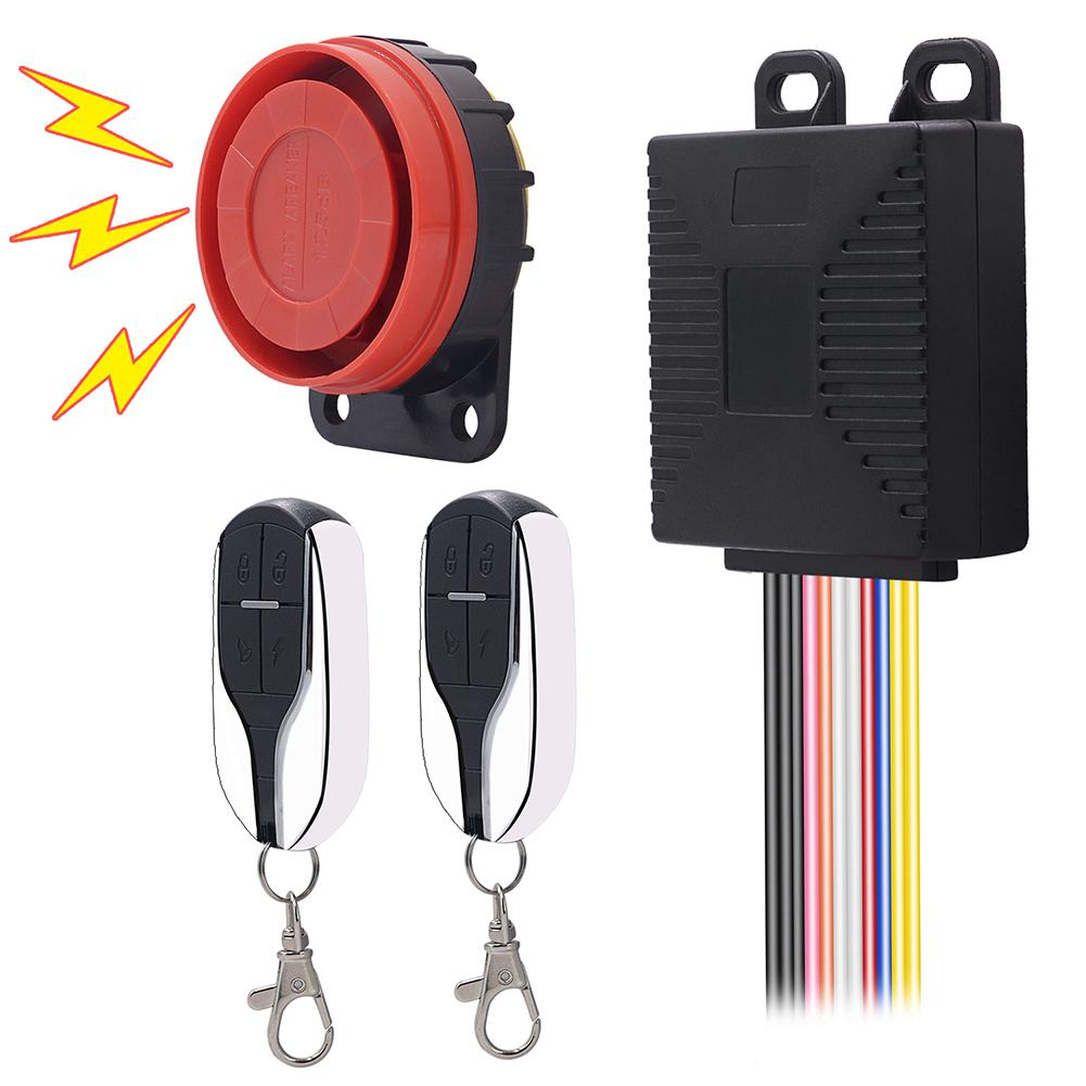 9-15V Anti-Theft Motorcycle Engine Start Security Alarm System Remote Control 2019