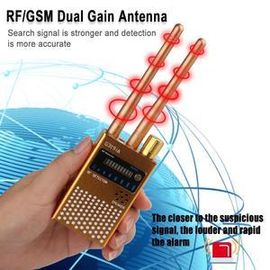 1MHz-8GHz podwójna antena anti-wiretapping GSM Audio Bug Finder sygnał GPS detektor RF Tracker detektor częstotliwości radiowej
