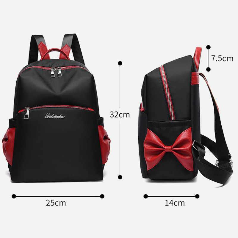 2019 nouveau sac à dos pour femmes imperméable à l'eau Oxford tissu mode Bow en plein air voyage sac à bandoulière sac d'école