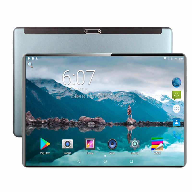 2020 Tablet 128G mundial Bluetooth Wifi Android 9,0 tableta de 10,1 pulgadas Octa Core 4G LTE 6GB RAM 128GB ROM 2.5D pantalla tabletas pc