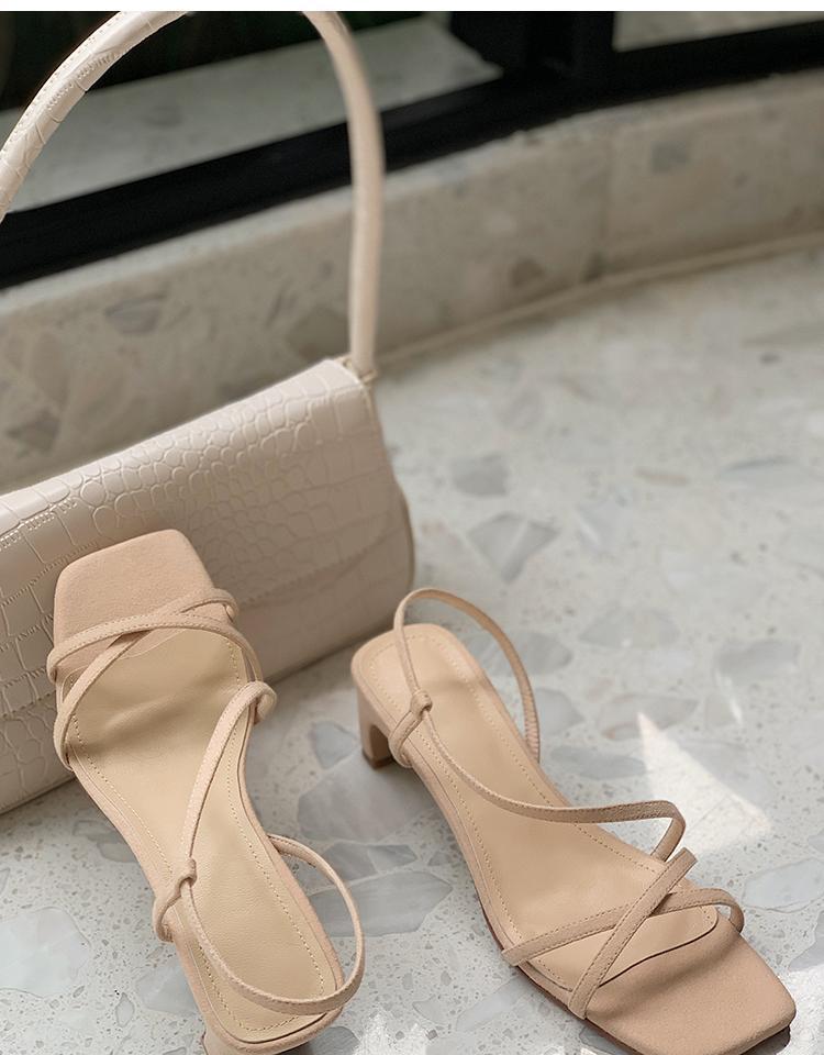 Verão 2021 sandálias femininas moda lazer suave