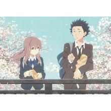 Pintura de bordado de películas de Anime japonés, pintura de bordado de diamantes 5D, decoración de la forma de la voz, punto de cruz, taladro redondo completo