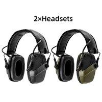 Earmuff tiro eletrônico fone de ouvido anti-ruído de proteção auditiva amplificador de som caça tático fone de ouvido de proteção