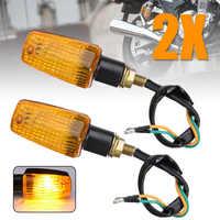 2Pcs Universal Motorcycle Mini Turn Signal Blinker Indicator Light Bulb Amber Yellow Lamp For Honda Suzuki Yamaha