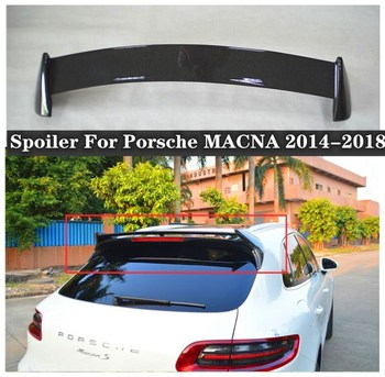 High quality ABS primer & Carbon Fiber Rear Trunk Lip Spoiler Top Wing Fits For Porsche MACAN 2014 2015 2016 2017 2018 carbon fiber rear trunk wings m4 spoiler for bmw 4 series f36 420i 428i 435i gran coupe 4 door 2013 gloss black spoiler wing