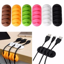 1pc Self-Adhesive Cable Mount Clips Table Organizer Drop Wire Holder Cord Management Ties Fixer Fastener Holder 20pcs pack self adhesive wire organizer line cable clip buckle plastic clips ties fixer fastener holder