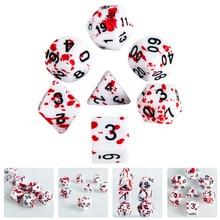 7 шт. крови кубики брызги крови кубики ролевые игровые кубики вечерние поставки