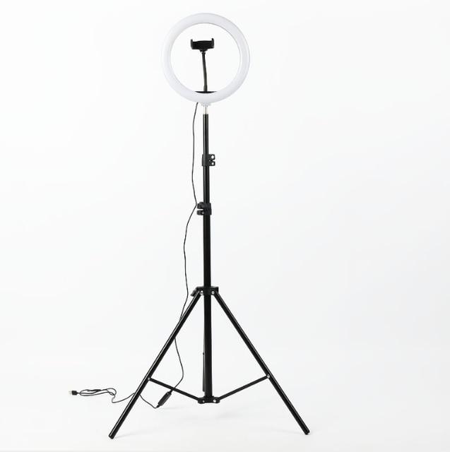 צילום LED טבעת מנורת Dimmable Selfie טבעת אור עם חצובה טלפון מחזיק עבור Youtube וידאו ירי חי איפור חתונה