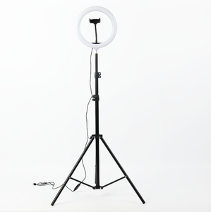 Image 1 - Photography LED Ring Lamp Dimmable Selfie Ring Light with Tripod Phone Holder For Youtube Video Shooting Live Makeup Wedding